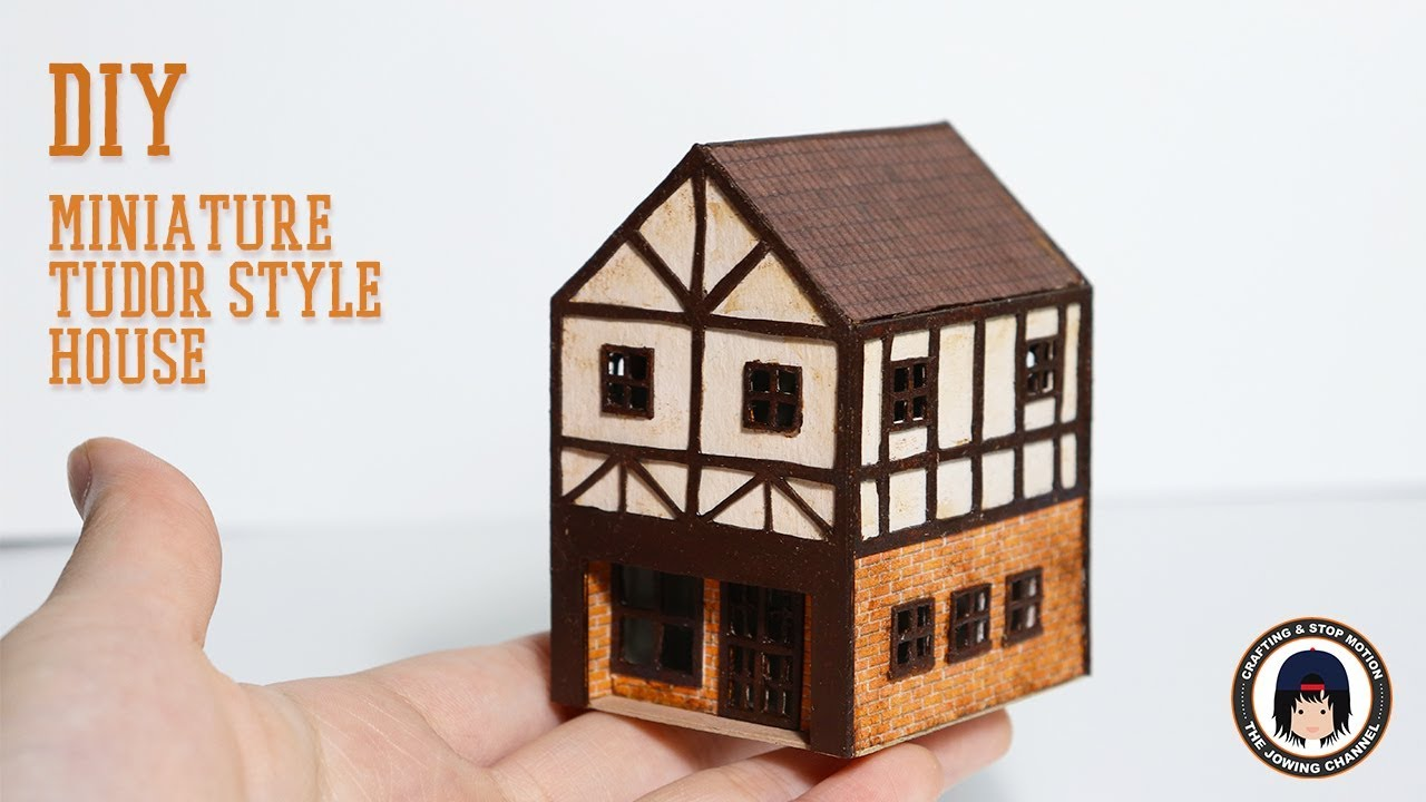 Diy miniature tudor style house youtube - Make a house a home ...
