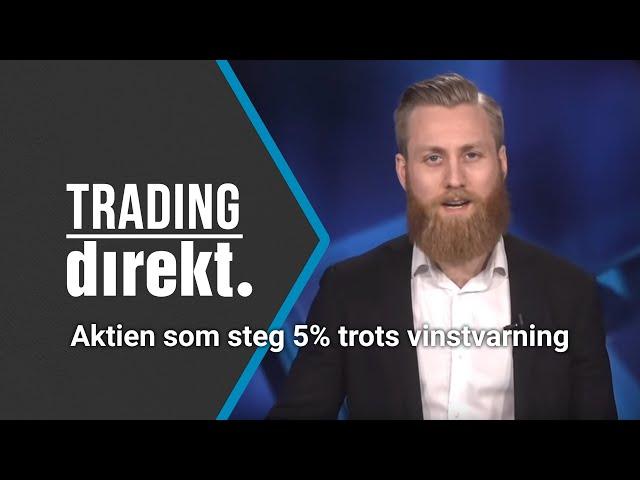 Trading Direkt 2020-03-03: Aktien som steg 5% trots vinstvarning!
