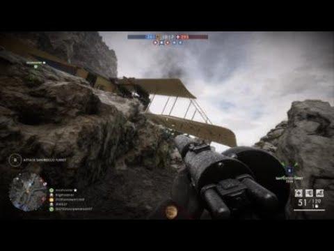 Battlefield 1 - Plane Lands On Teammate (Funny)