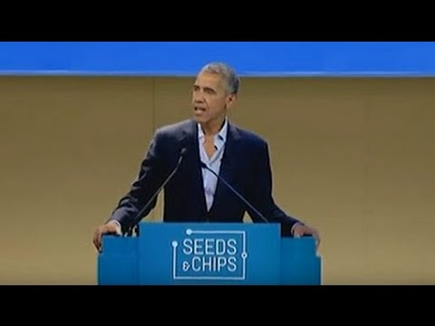 Obama Speech & Interview Milan