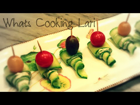 Cucumber Hummus Appetizer - Healthy Finger Food by Whats Cooking Lari