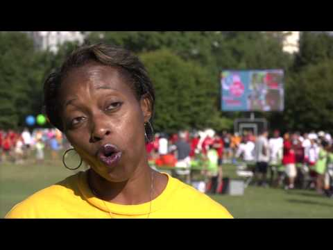 Gail Devers and Jackie Joyner-Kersee support Day for Kids