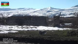 Qubadlı rayonunun Diləli Müskənli kəndindən videogörüntülər