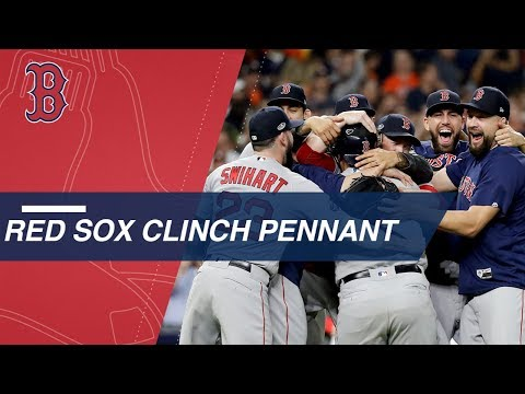 Red Sox clinch American League pennant and advance to World Series