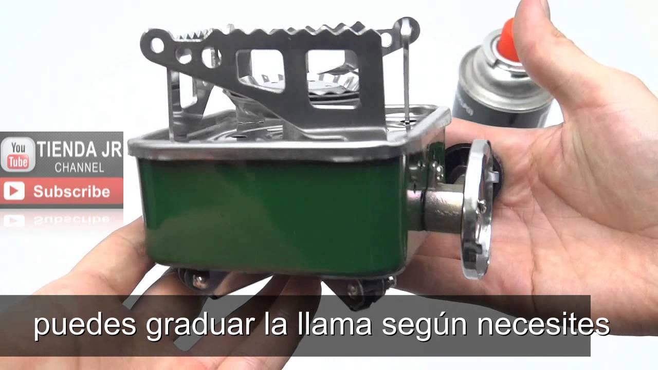 Estufa hornilla portatil plegable para camping gas butano - Estufa camping gas ...
