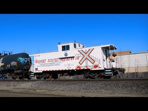 Lots of BNSF and CP Branch Line Action Around Winnipeg, with BN Caboose 12580 (03/30/2016)