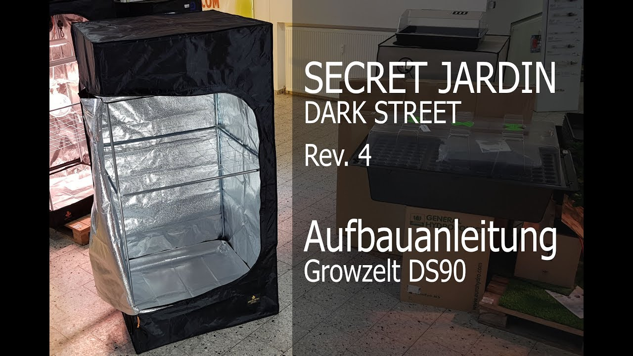 DS New 2019 Revision 4.0 Secret Jardin Grow Tent Dark Street