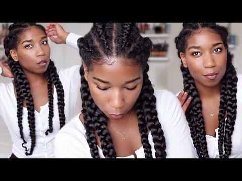 how-to-ghana-cornrow-braids-for-beginners-|-clear-easy-steps---feed-in-method