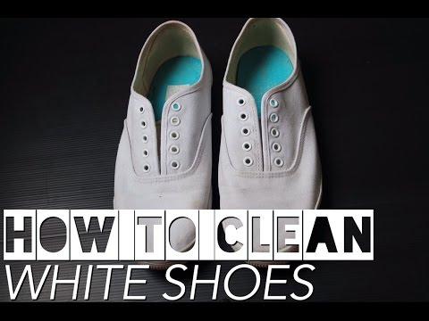 CARA MEMBERSIHKAN SEPATU PUTIH CEPAT & MURAH   HOW TO CLEAN WHITE SHOES   DIY