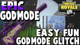 GOD MODE GLITCH AT RETAIL ROW! FORTNITE: BATTLE ROYALE GLITCHES