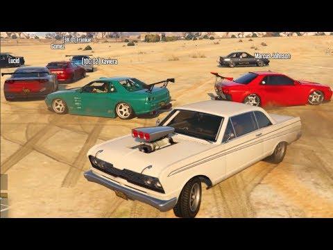 GTA 5 fiveM Online RP - BIGGEST CAR MEET FAIL ....