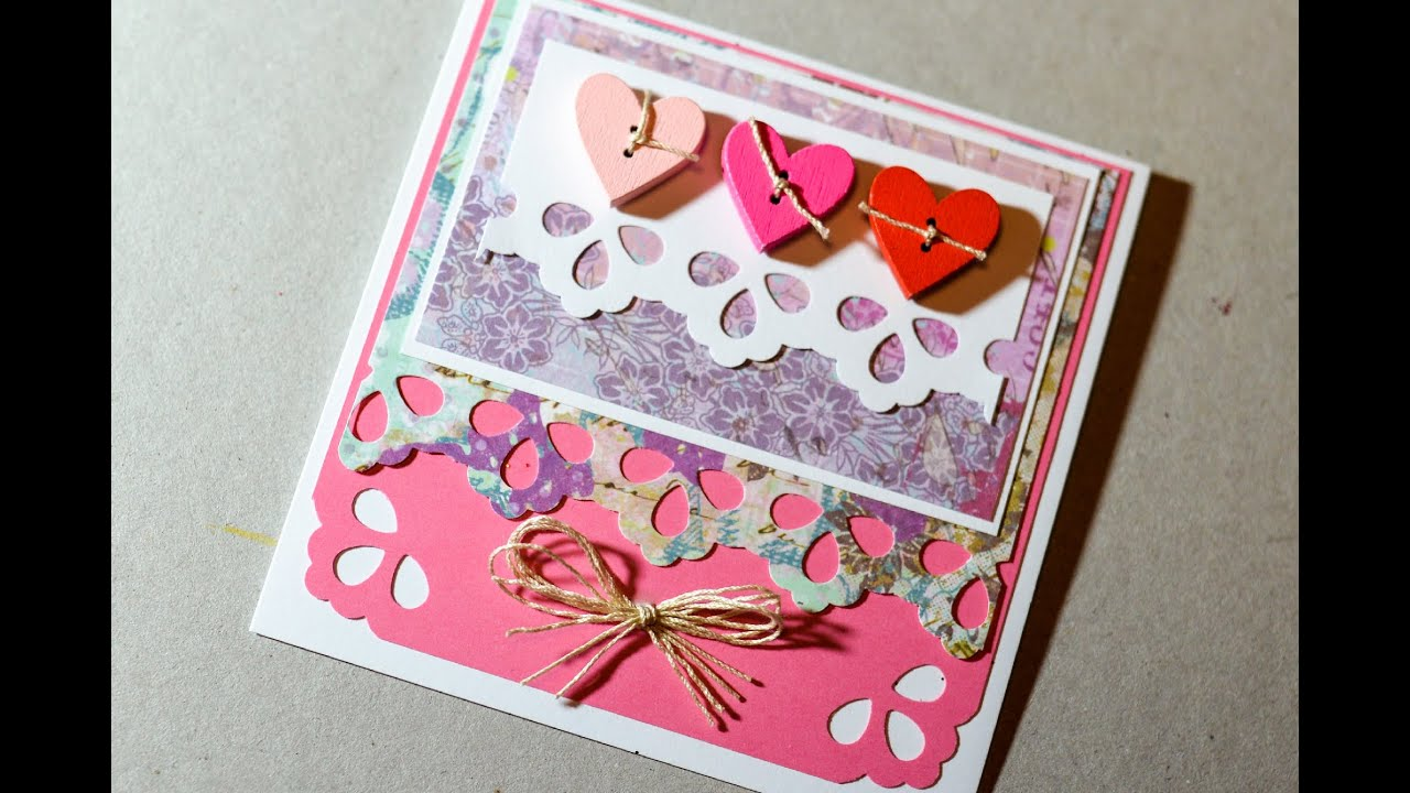 How To Make Valentine 39 S Day Card Greeting Card Step By