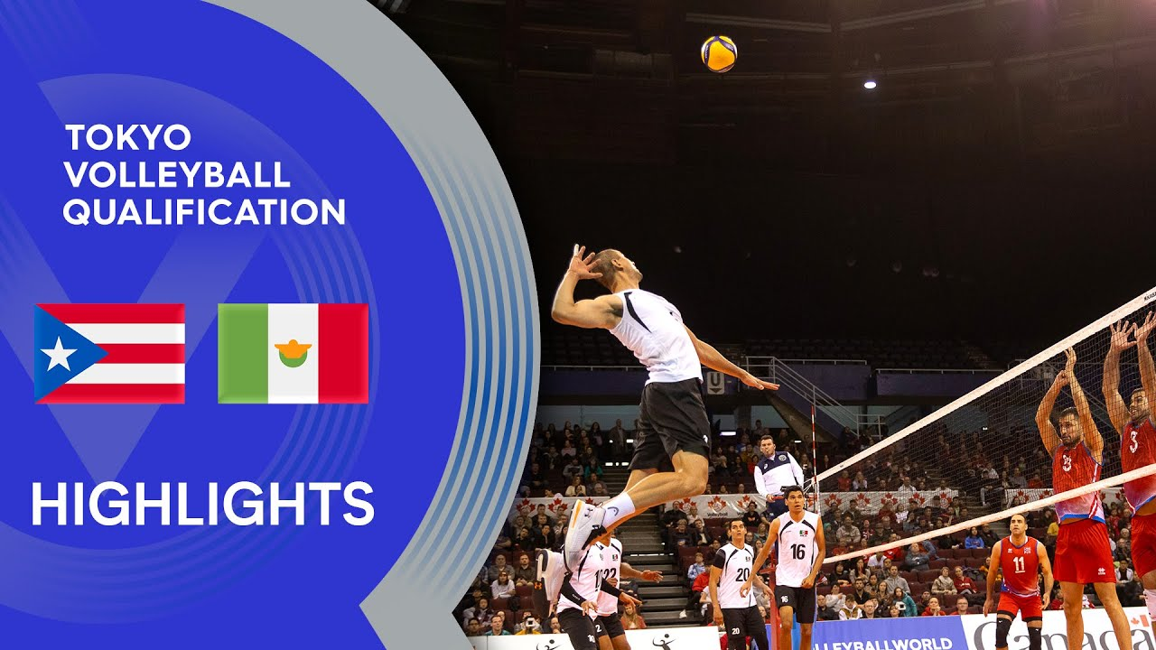 Puerto Rico vs. Mexico - Highlights | NORCECA Men's Tokyo Volleyball Qualification 2020