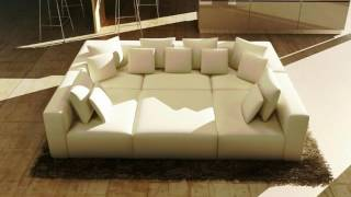 Modern White Leather Sectional Sofa ideas