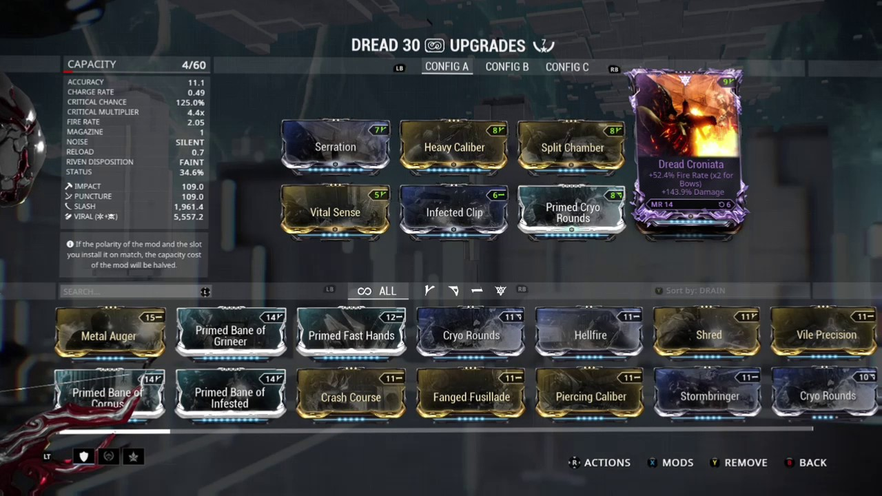 Warframe Build Dread