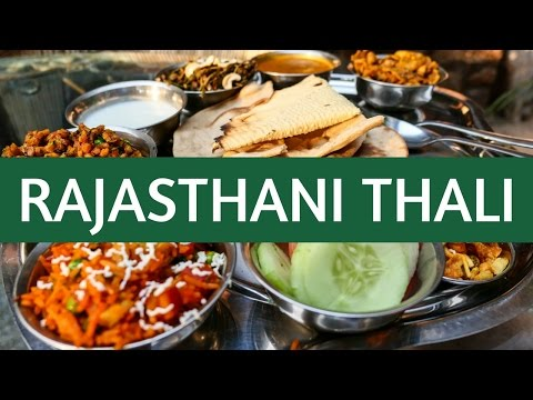 Indian Thali (थाली) - Eating Indian Food (Rajasthani Cuisine - राजस्थानी खाना) in Jodhpur, India