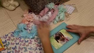 Скрапбукинг Текстильная рамка  для фото !