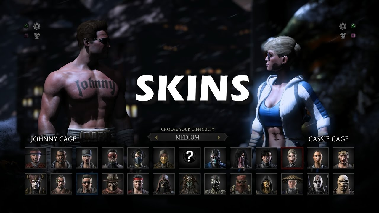 How To Unlock Skins In Mortal Kombat X Mortal Kombat 10 Youtube