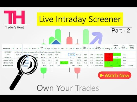Live Intraday Screener Realtime for Trading - Part 2