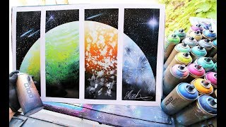 Four seasons planet - SPRAY PAINT ART By Skech