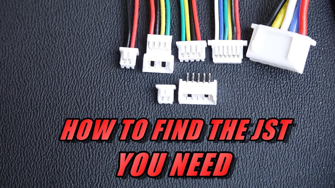 hight resolution of finding the jst connector you need