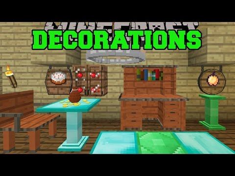 Minecraft: DECORATIONS OVERLOAD! (CABINETS, CHANDELIERS, FOUNTAINS, SIGNS, & MORE) Mod Showcase
