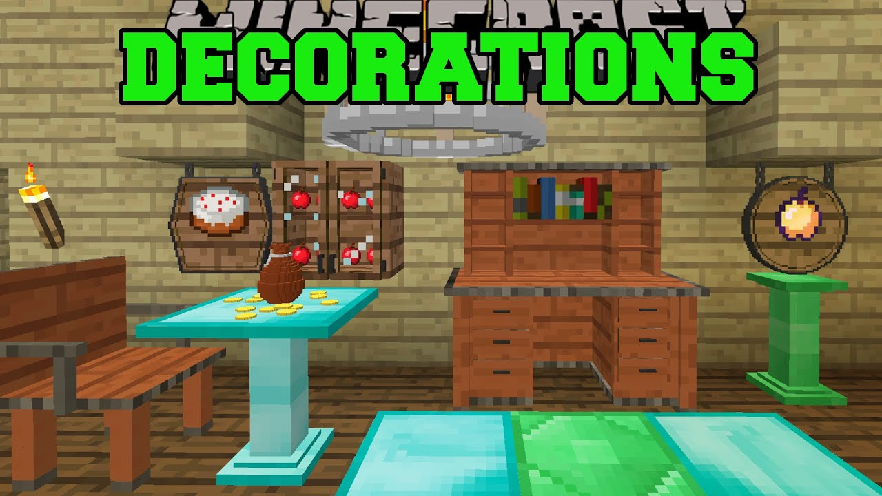 Minecraft: DECORATIONS OVERLOAD! (CABINETS, CHANDELIERS ...