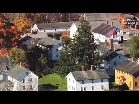 Canterbury Shaker Village, New Hampshire from Above - in High definition (HD)