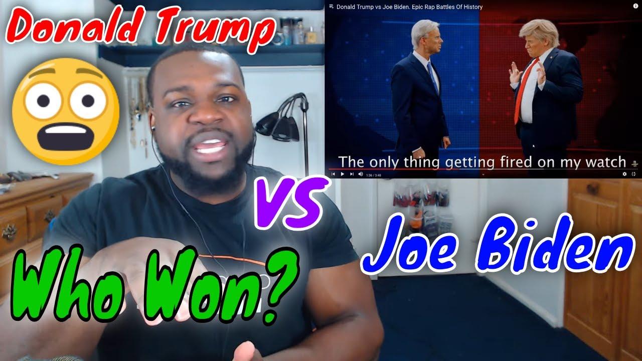 Donald Trump vs Joe Biden Epic Rap Battles Of History Reaction