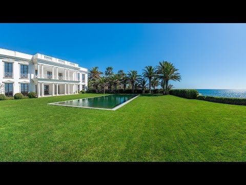 Magnificent Beachfront Mansion, west of Marbella