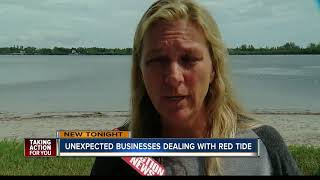 Businesses cutting staff hours due to red tide outbreak