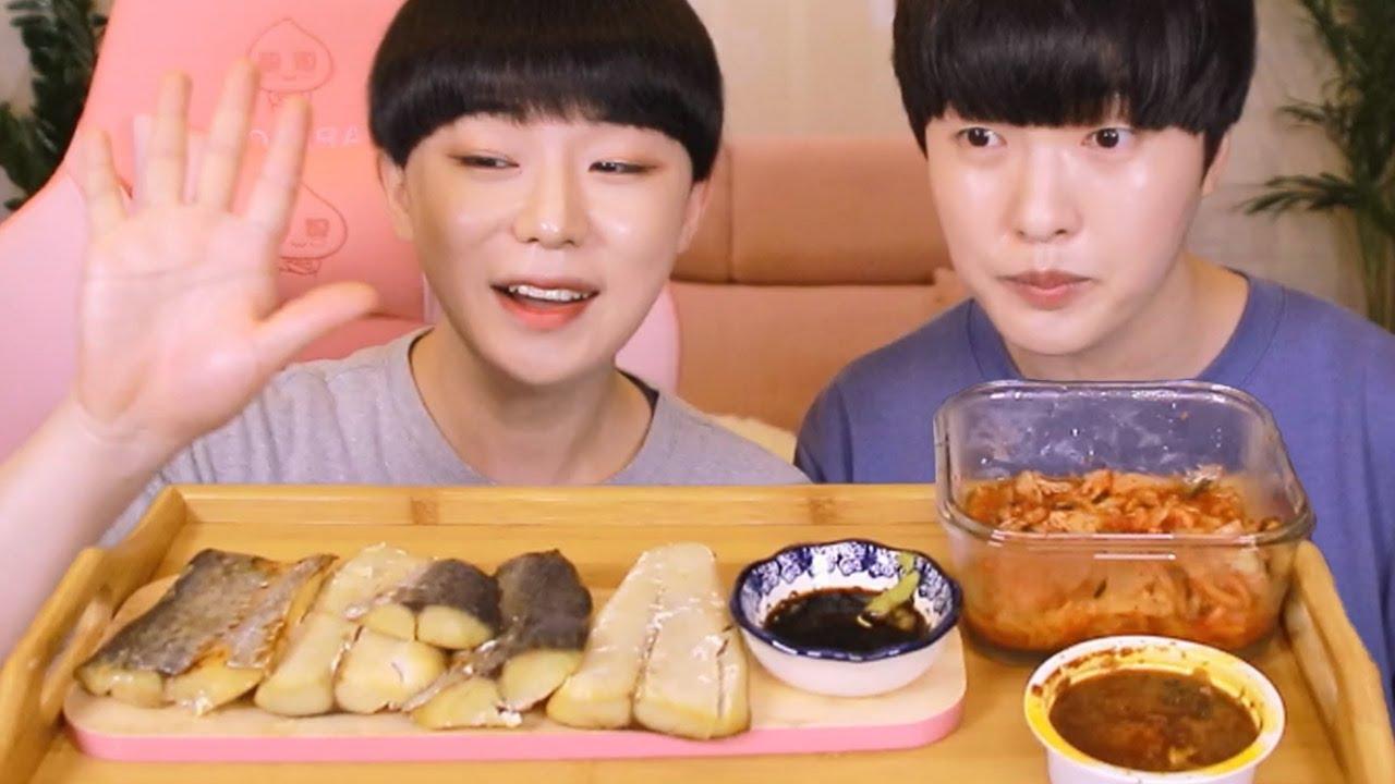 삼치구이 먹방 ) 순살 삼치구이에 강된장 배추김치 먹방