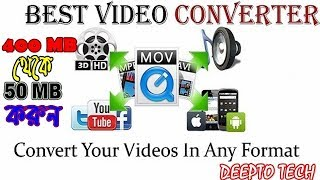Convert A Video File To Any Format, mp3,mp4,wav,mkv,etc