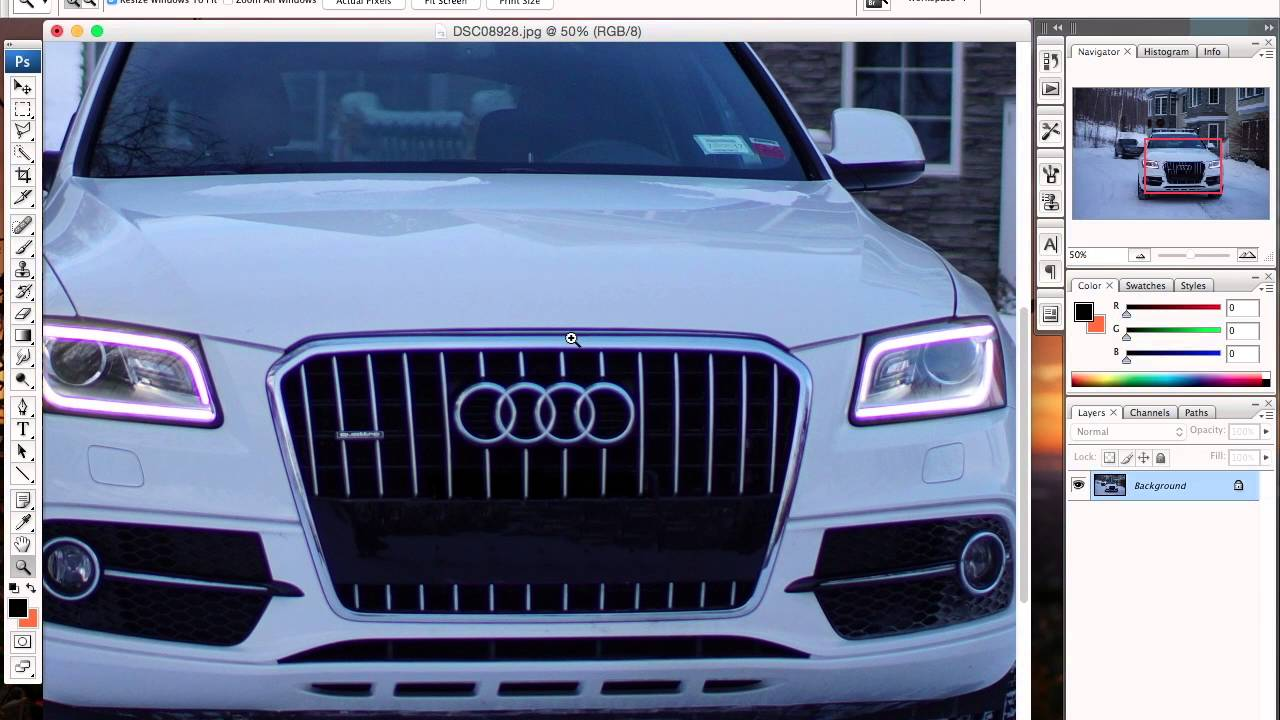 How To: Remove Front License Plate w/ Photoshop!! - YouTube