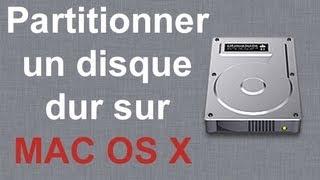 Partitionner un disque dur interne / externe - MAC OS X