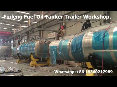 China Widely used fuel tanker semi trailer , fuel oil tanker workshop , welcome to visit!