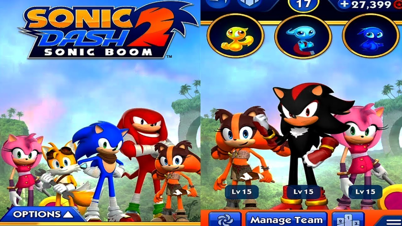 Sonic Dash 2 Sonic Boom Sonic Vs Shadow Android Gameplay Hd Youtube