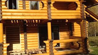 видео Дома из бревна, бруса, строительство домов из зимнего леса из Чебоксар и Чувашии