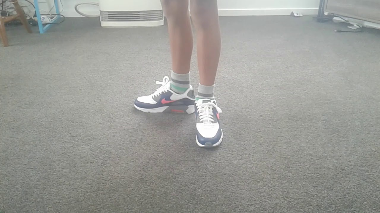 Air Max 90 White Solar Red-Obsidian On Feet - YouTube 944f49f95