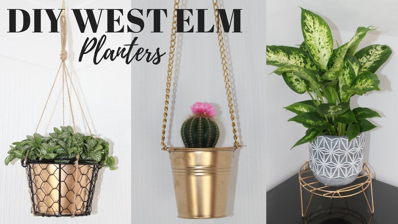 Diy West Elm Inspired Planter Ideas Affordable Pinterest Hacks