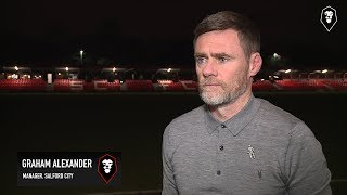 Salford City 1-3 Dover Athletic   Graham Alexander post match interview