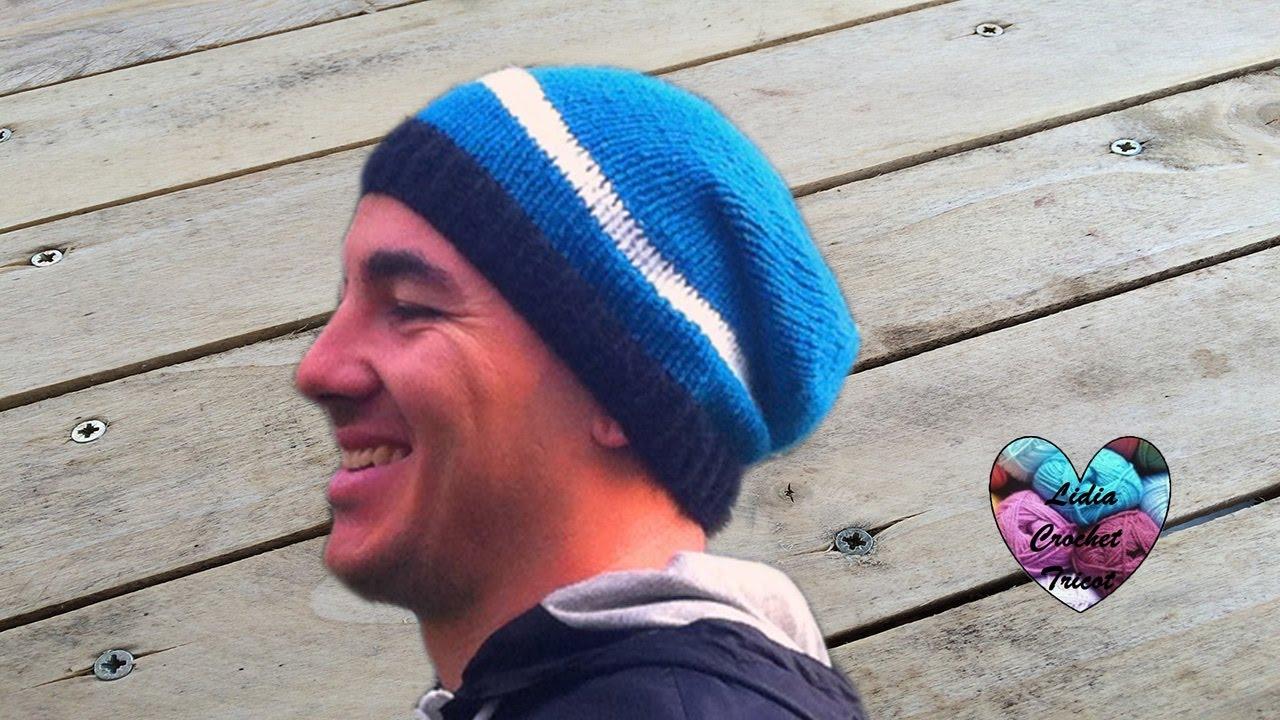 bonnet homme tricot diy