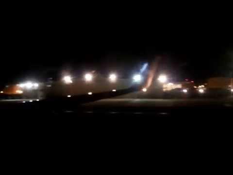 Onboard Night Landing at Los Angeles International Airport   American Airlines 737-800