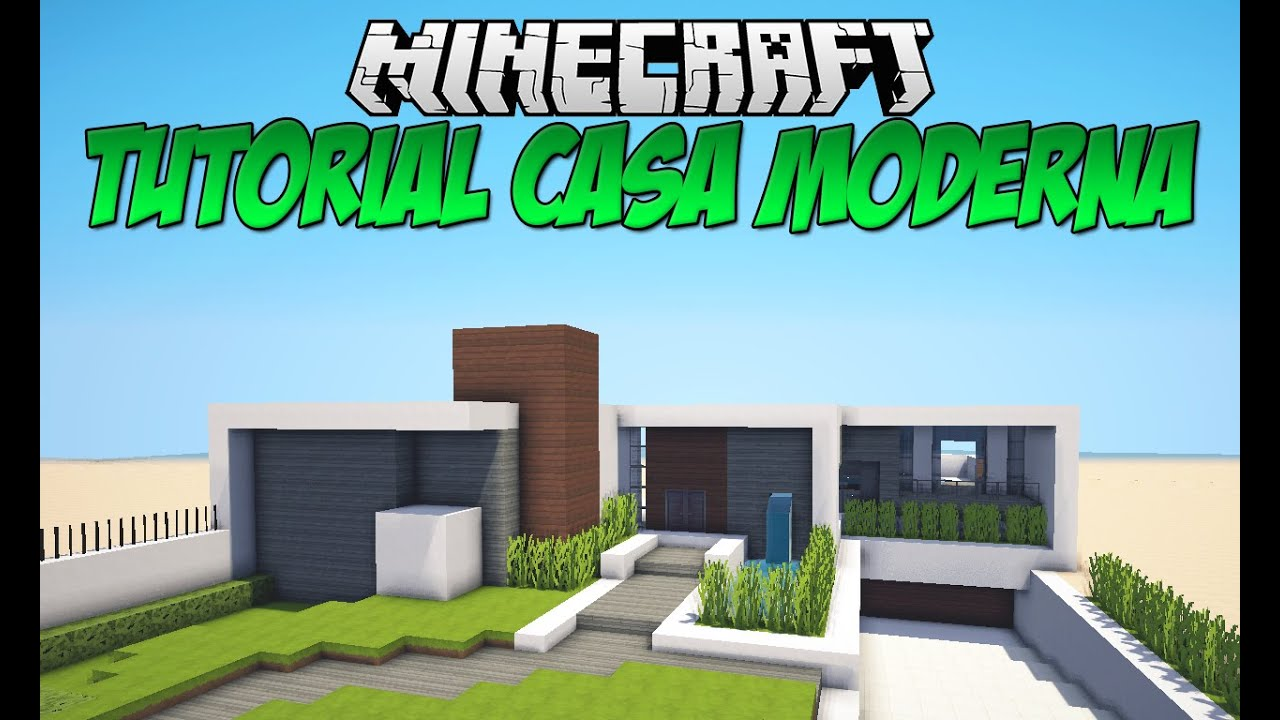 Tutoriais minecraft casa moderna download youtube for Casa moderna 10x10 minecraft