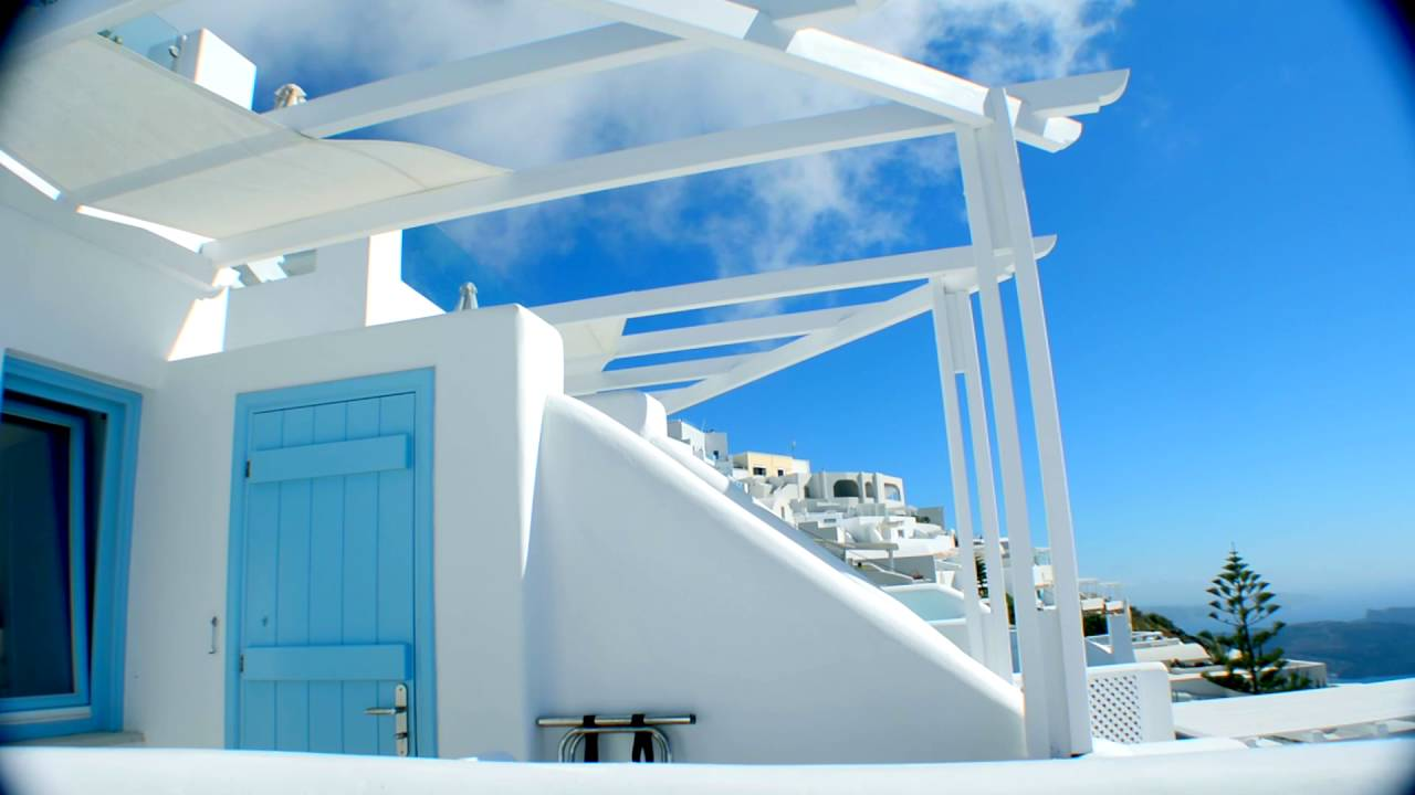2 minutes of santorini above blue suites siren balcony view youtube. Black Bedroom Furniture Sets. Home Design Ideas