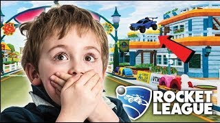 THE BEST NEW MAP FOR ROCKET LEAGUE HIDE AND SEEK!