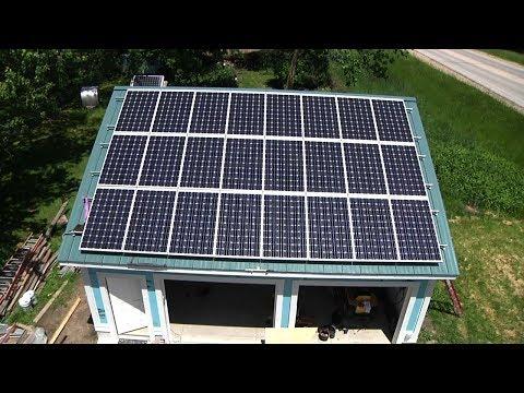 Garage Solar Panel Installation Day