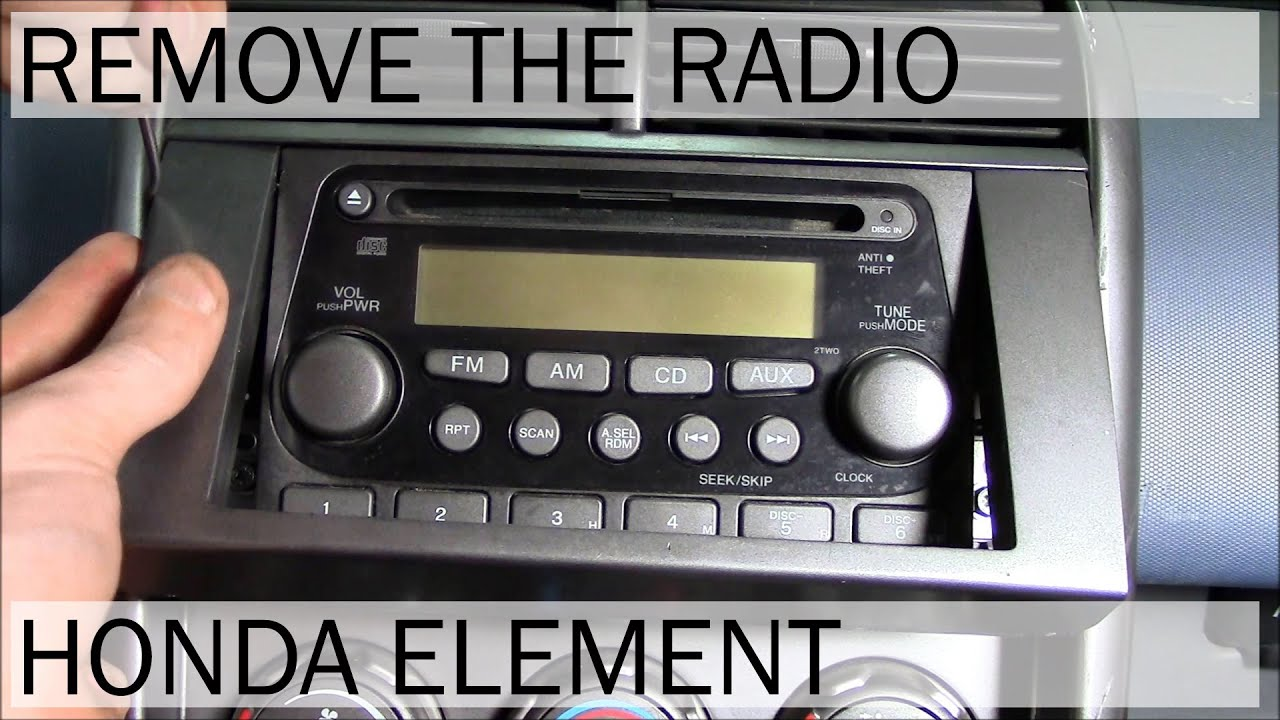 honda element radio removal