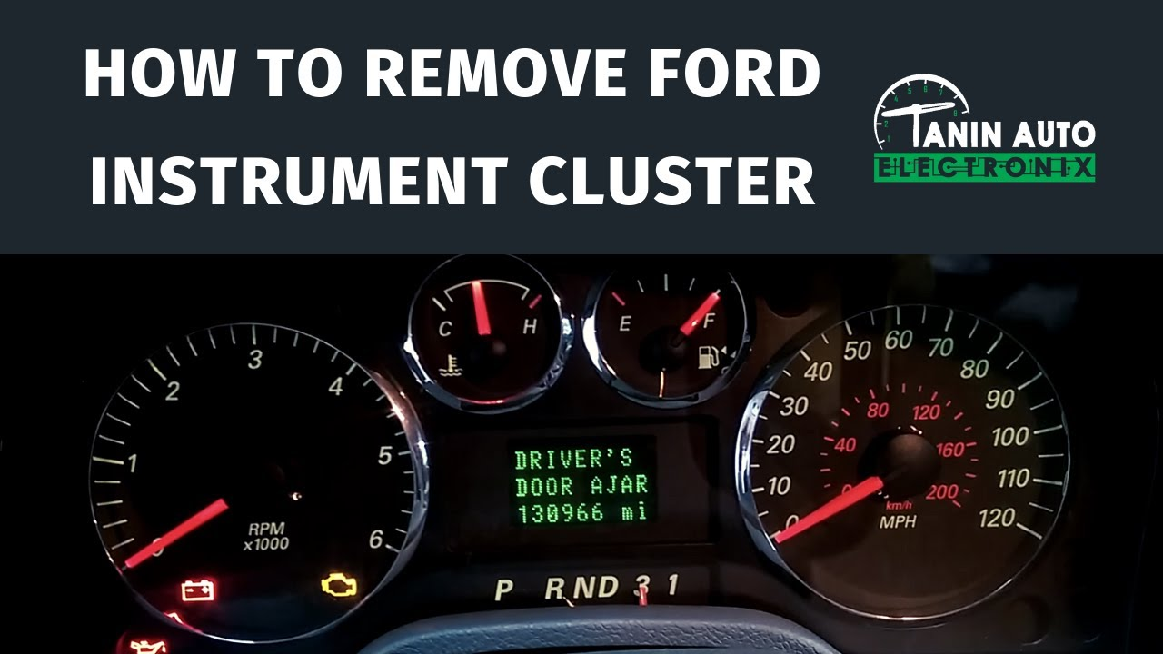 Tanin Auto Electronix 2004 Ford Freestar Freestyle Taurus 04 Fuse Box Speedometer Cluster Removal And Repair