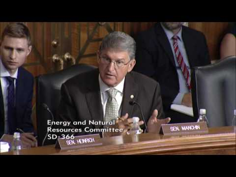 Sen. Manchin Questions Witness at Oversight Hearing on Pipeline Infrastructure